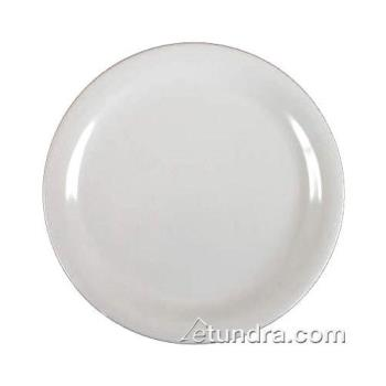 "THGCR109W - Thunder Group - CR109W - 9"" White Narrow Rim Round Plate Product Image"