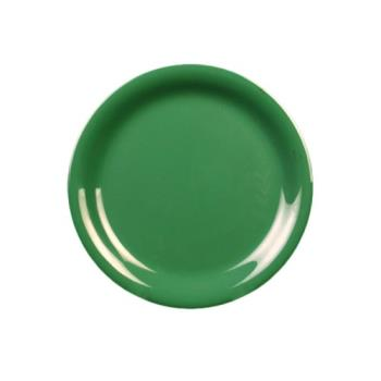 "THGCR110GR - Thunder Group - CR110GR - 10 1/2"" Green Narrow Rim Round Plate Product Image"