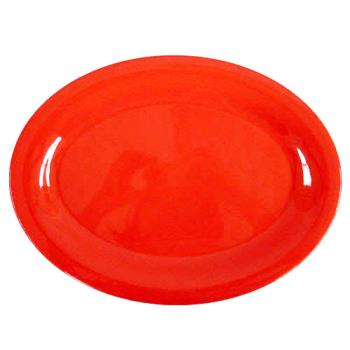 "THGCR209PR - Thunder Group - CR209PR - 9 1/2"" x 7 1/4"" Pure Red Platter Product Image"