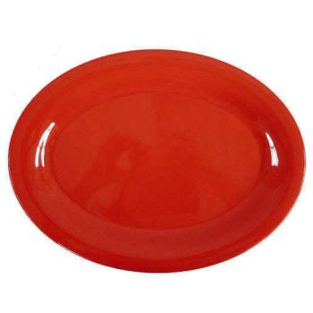 "THGCR209RD - Thunder Group - CR209RD - 9 1/2"" x 7 1/4"" Red-Orange Platter Product Image"