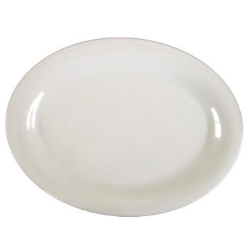 "THGCR209W - Thunder Group - CR209W - 9 1/2"" x 7 1/4"" White Platter Product Image"