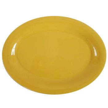"THGCR213YW - Thunder Group - CR213YW - 13 1/2"" x 10 1/2"" Yellow Platter Product Image"
