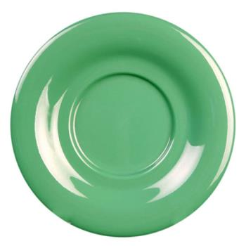 "THGCR9303GR - Thunder Group - CR9303GR - 5 1/2"" Green Saucer for 7 oz Bouillon Cup Product Image"