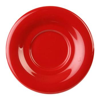 "THGCR9303PR - Thunder Group - CR9303PR - 5 1/2"" Pure Red Saucer for 7 oz Bouillon Cup Product Image"