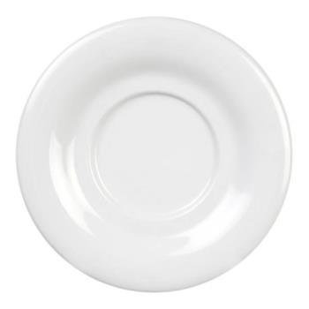 "THGCR9303W - Thunder Group - CR9303W - 5 1/2"" White Saucer for 7 oz Bouillon Cup Product Image"