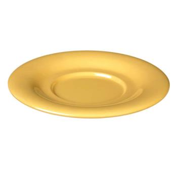 "THGCR9303YW - Thunder Group - CR9303YW - 5 1/2"" Yellow Saucer for 7 oz Bouillon Cup Product Image"