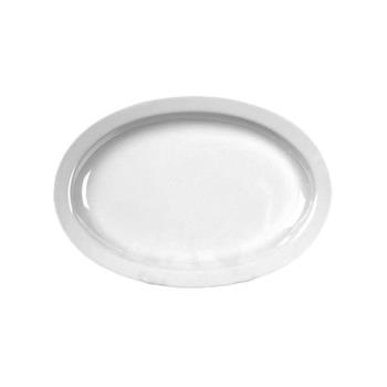 "THGNS516W - Thunder Group - NS516W - 15 1/2"" x 10 7/8"" Nustone White Platter Product Image"