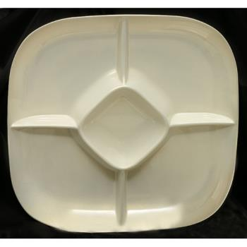 "THGPS1515V - Thunder Group - PS1515V - 15"" Passion Pearl Chip & Dip Platter Product Image"