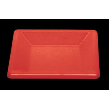 "THGPS3204RD - Thunder Group - PS3204RD - 4"" Passion Red Square Plate Product Image"