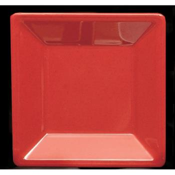 "THGPS3214RD - Thunder Group - PS3214RD - 13 3/4"" Passion Red Square Plate Product Image"