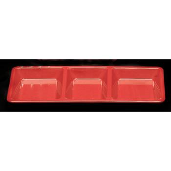 THGPS5103RD - Thunder Group - PS5103RD - Passion Red 3 Section Rectangle Compartment Tray Product Image