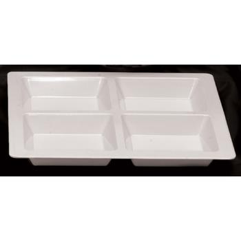 THGPS5104W - Thunder Group - PS5104W - Passion White 4 Section Square Compartment Tray Product Image