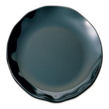 "THGRF1010BW - Thunder Group - RF1010BW - 10 1/2"" Black Pearl Salad Plate Product Image"