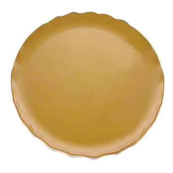 "THGRF1010G - Thunder Group - RF1010G - 10 1/2"" Gold Pearl Round Dinner Plate  Product Image"
