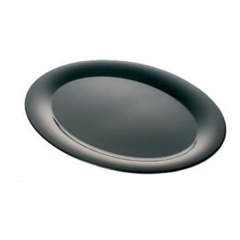 "THGRF2224BW - Thunder Group - RF2224BW - 22"" x 12"" Two Tone Black Pearl Oval Platter  Product Image"