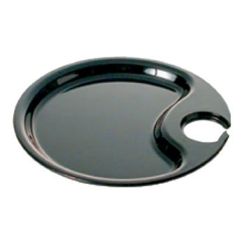 "THGRF7010B - Thunder Group - RF7010B - 10.5"" Black Pearl Party Plate  Product Image"