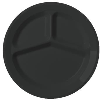 CAM93CW110 - Cambro - 93CW110 - Camwear® 9 in 3 Comp Black Plate Product Image