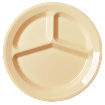CAM93CW133 - Cambro - 93CW133 - Camwear® 9 in 3 Comp Beige Plate Product Image