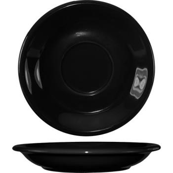 ITW8137605S - ITI - 81376-05S - 6 1/4 in Black bistro saucer Product Image