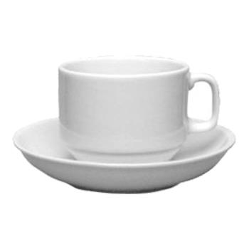 ITW8200202 - ITI - 82002-02 - 6 oz European White Cappuccino Cup w/Saucer Product Image