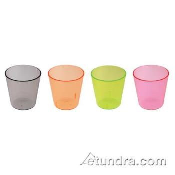 BARCR7288AC - Bar Maid - CR-7288AC - 2 oz Assorted Color Plastic Shot Glass Product Image