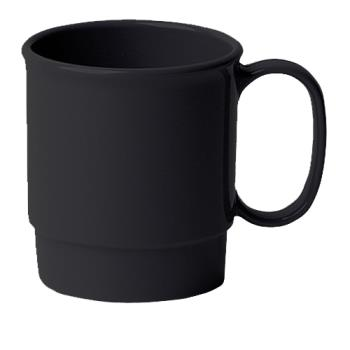 CAM75CW110 - Cambro - 75CW - Camwear® 7.5 oz Black Stacking Cup Product Image