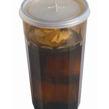 76577 - Cambro - CLNT12190 - CamLid® Disposable 12.6 oz Newport Tumbler Lid Product Image