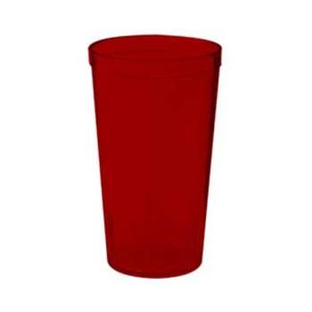 GET662012R - GET Enterprises - 6620-1-2-R - 20 oz Red Pebbled Tumbler Product Image