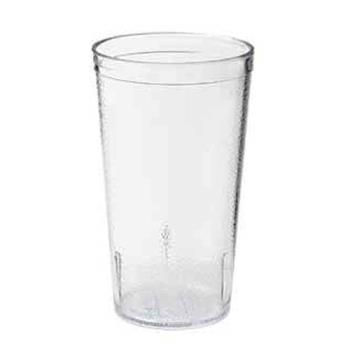 75529 - GET Enterprises - 6624-1-2-CL - 24 oz Clear Pebbled Tumbler Product Image