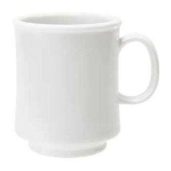GETTM1308W - GET Enterprises - TM-1308-W - 8 oz White Stacking Mug Product Image