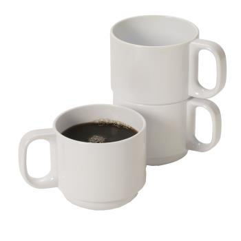 GETTM1411W - GET Enterprises - TM-1411-W - 11 oz White Stackable Mug Product Image