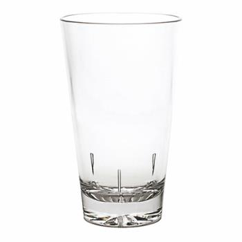99183 - Thunder Group - PLTHMG016C - 16 oz Clear Polycarbonate Starburst Base Mixing Glass  Product Image