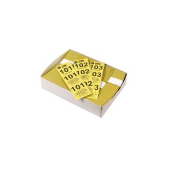 WINCCK5YL - Winco - CCK-5YL - Yellow Coat Check Tags Product Image