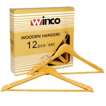 WINWCH1 - Winco - WCH-1 - Wood Coat Hanger Product Image