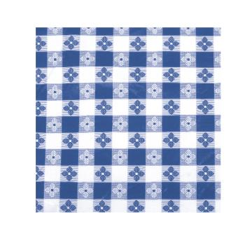 "WINTBCO90B - Winco - TBCO-90B - 52"" x 90"" Blue Check Tablecloth Product Image"
