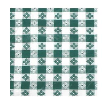 "WINTBCO90G - Winco - TBCO-90G - 52"" x 90"" Green Check Tablecloth Product Image"