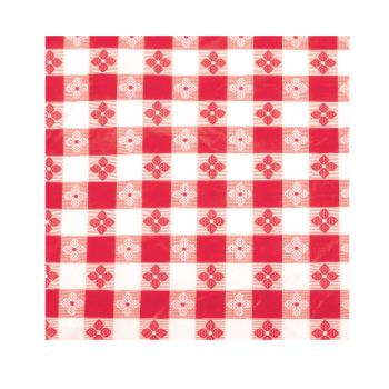 "WINTBCS52R - Winco - TBCS-52R - 52"" x 52"" Red Check Tablecloth Product Image"