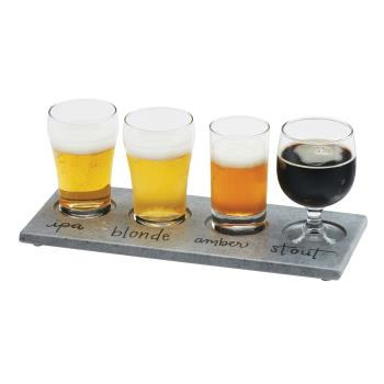 CLM350077 - Cal-Mil - 3500-77 - Write-On Faux Cement Beer Flight Taster Board Product Image