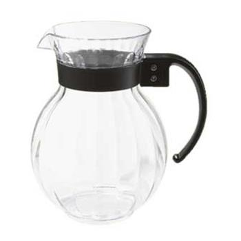 GETP4072PCCL - GET Enterprises - P-4072-PC-CL - Tahiti 72 oz Pitcher w/ Black Handle Product Image
