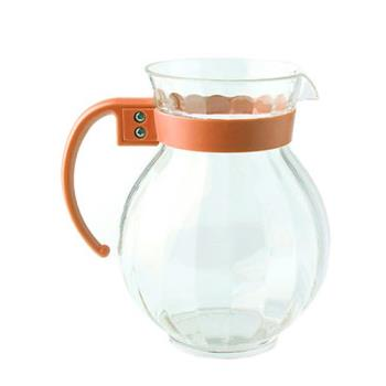 GETP4091PCRO - GET Enterprises - P-4091-PC-RO - Tahiti 90 oz Pitcher w/ Orange Handle Product Image