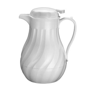 WINVSW42W - Winco - VSW-42W - 42 oz White Beverage Server Product Image