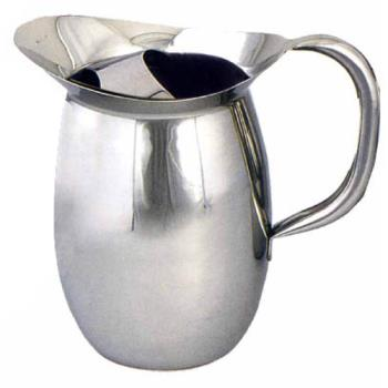 WINWPB2C - Winco - WPB-2C - 2 qt Stainless Steel Bell Pitcher with Guard Product Image