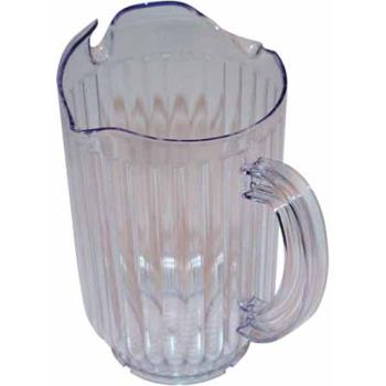 75942 - Winco - WPCT-60C - 60 oz Clear 3 Spout Water Pitcher Product Image