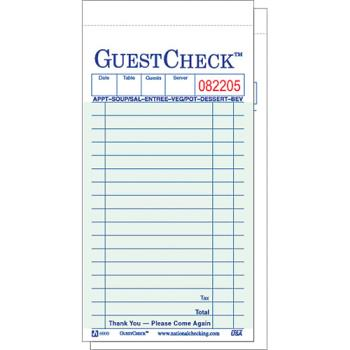 58537 - DayMark - IT122803 - 2 Part - 17 Line Guest Check Product Image