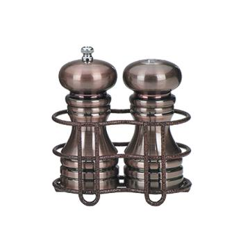 "CSS90055 - Chef Specialties - 90055 - 5"" Burnished Copper Mill & Shaker Set w/ Rack Product Image"