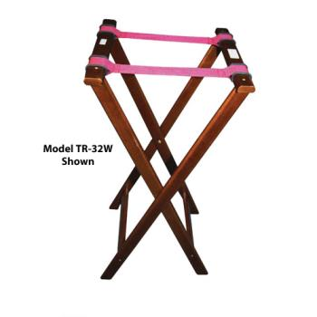 WINTR34W - Winco - TR-34W - 32 in Mahogany Tray Stand Product Image