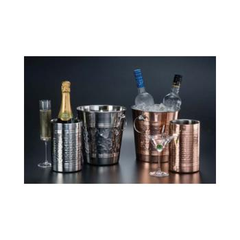 AMMWB8C - American Metalcraft - WB8C - Hammered Copper Wine Bucket Product Image