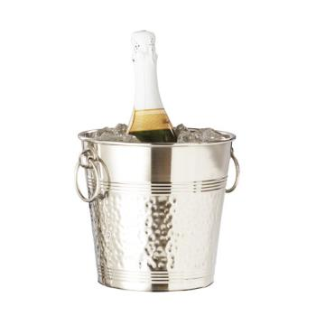 AMMWB9 - American Metalcraft - WB9 - Hammered Stainless Steel Wine Bucket Product Image