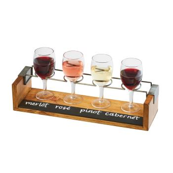 CLM2201099 - Cal-Mil - 22010-99 - Write-On Industrial Wine Flight Taster Caddy Product Image
