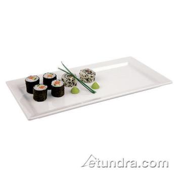 "WOR4484253 - World Cuisine - 44842-53 - 20 7/8"" x 7 1/8"" White Melamine Sushi Tray Product Image"